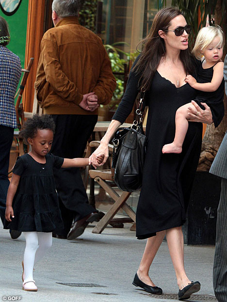 Angelina Jolie And Kids. Angelina Jolie out for a walk