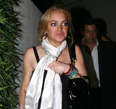 lindsay lohan anorexia. drug test in rehab and was