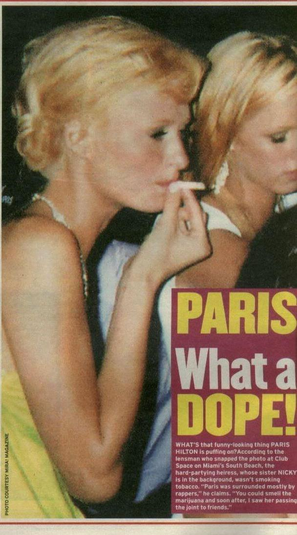 paris hitlon smoking